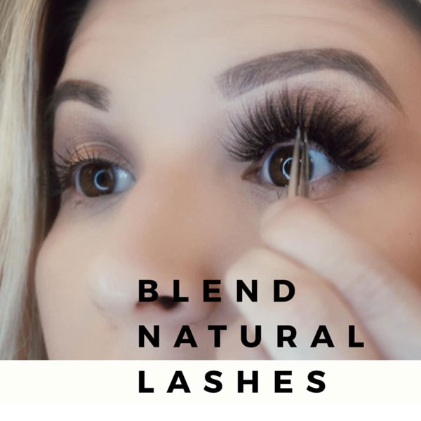 Step 7 Blend the lashes